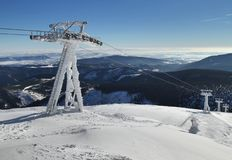 Cableway posts Stock Photography