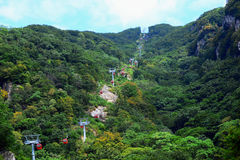 Cableway in Qinling Mountains in China Stock Photo