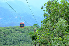 Cableway in Qinling Mountains in China Royalty Free Stock Photo
