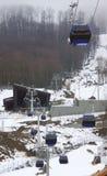 Cableway in Rosa Khutor ski resort Royalty Free Stock Photos