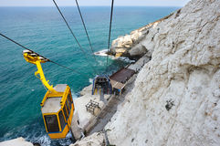 Cableway at Rosh ha-Hanikra Royalty Free Stock Images