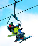 Cableway on ski resort Royalty Free Stock Images