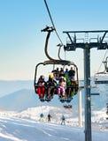 Cableway at ski resort Royalty Free Stock Photo