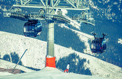 Cableway at Slovakia Royalty Free Stock Photography