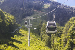 Cableway in Sochi Stock Photos