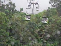 Cableway som leder till Genting Royaltyfri Fotografi