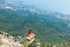 Cableway on Southern coast of Crimea Stock Photo