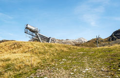 Cableway station Royalty Free Stock Photo