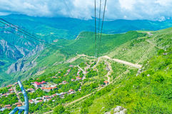 The cableway of Tatev Royalty Free Stock Images