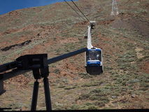 Cableway. Teide cableway to the top on volcano Royalty Free Stock Images