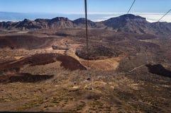Cableway in Teide volcano ,  Tenerife, Canarian Islands, Spain. Cableway in Teide volcano Natural Park in Tenerife, Canarian Islands, Spain stock images