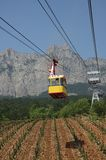 Cableway to Ai-Petri mountain Royalty Free Stock Images