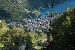 Cableway to Molveno Royalty Free Stock Image