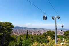 Cableway to Montjuic - Barcelona Spain Royalty Free Stock Photography