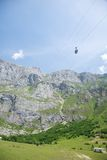 Cableway to Picos de Europa mountains Stock Images