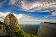 Cableway to Sugarloaf Mountain Royalty Free Stock Photo
