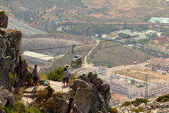Cableway Tourists Stock Image