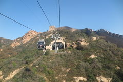 The cableway up to the Great Wall of China Stock Photos