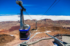 Cableway on the volcano Teide Royalty Free Stock Images