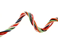 Cabling. Colorful cabling on white background Stock Photos