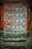 Cabling in many servers Stock Image