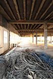 Cabling for recycle in office remodel Stock Photography