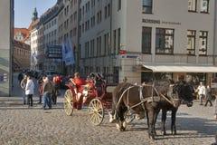 Cabman in Dresden, Germany stock photos