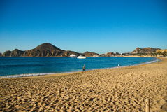 Cabo圣卢卡斯早晨海滩 免版税库存照片