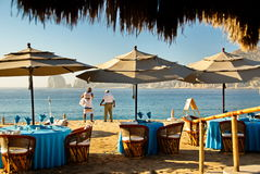 Cabo圣卢卡斯海滩放松 库存图片