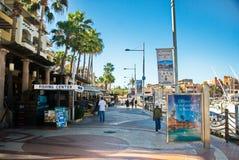 Cabo圣卢卡斯街市小游艇船坞 免版税库存图片