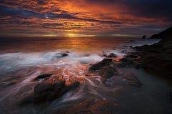 cabo海岸de gata自然公园 免版税库存图片