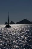 小船销售额圣的cabo海岸卢卡斯 免版税库存照片