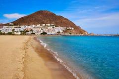 阿尔梅里雅Cabo加塔角圣何塞海滩村庄西班牙 免版税库存图片