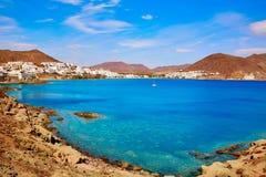 阿尔梅里雅Cabo加塔角圣何塞海滩村庄西班牙 库存图片