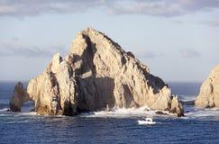 Cabo圣卢卡斯岩石 库存图片