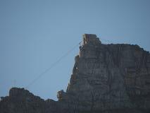Cabo aéreo da montanha da tabela, Cape Town (Cape Town, África sul 16 de agosto de 2016) imagem de stock