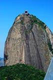 Cabo aéreo da montanha de Sugarloaf Rio de Janeiro, Brasil foto de stock