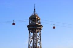 Cabo aéreo da torre Imagem de Stock