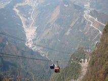 Cabo aéreo de TianMen Shan Fotografia de Stock