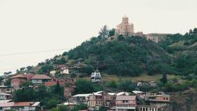 Cabo aéreo em Tbilisi, Geórgia video estoque