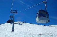 Cabo aéreo no inverno Foto de Stock
