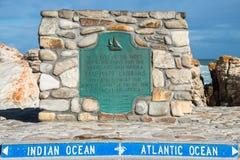 Cabo Algulhas Imagenes de archivo