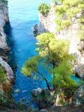 Cabo Amarantos en la isla de Skopelos Fotos de archivo libres de regalías