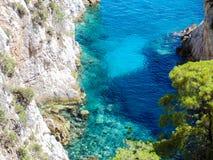 Cabo Amarantos en la isla de Skopelos Imagen de archivo