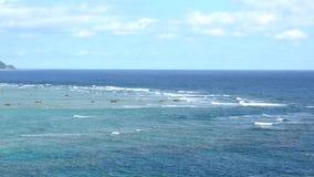 Cabo Ayamaru en Amami Oshima, Kagoshima, Japón, por la tarde almacen de video