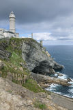 Cabo Bürgermeisterleuchtturm, Santander Stockfotos