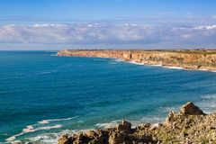 Cabo Beddouza na costa atlântica, Marrocos imagem de stock royalty free