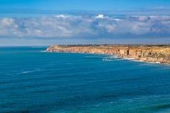 Cabo Beddouza na costa atlântica, Marrocos imagens de stock