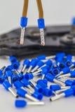 cabo bonde com ponta isolada, close up foto de stock