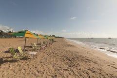 Cabo Branco海滩,若昂佩索阿铅,巴西 免版税库存图片